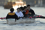 Putney, Great Britain, Barn Elm Recreational rowing. Play / Training Boat with novice crew. 11/12/2007 [Mandatory Credit Peter Spurrier/Intersport Images].. , Rowing Course: River Thames, Championship course, Putney to Mortlake 4.25 Miles, , Varsity Boat Race.
