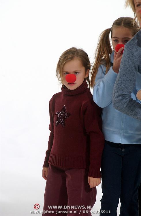 Opname commercial C&A / cliniclowns, Demi, kinderen Ronald en Frank de Boer