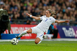 Jordan Nobbs of England in action - Photo mandatory by-line: Rogan Thomson/JMP - 07966 386802 - 23/11/2014 - SPORT - WOMEN'S FOOTBALL - Wembley Stadium - England v Germany - Breast Cancer Care International Friendly Match.