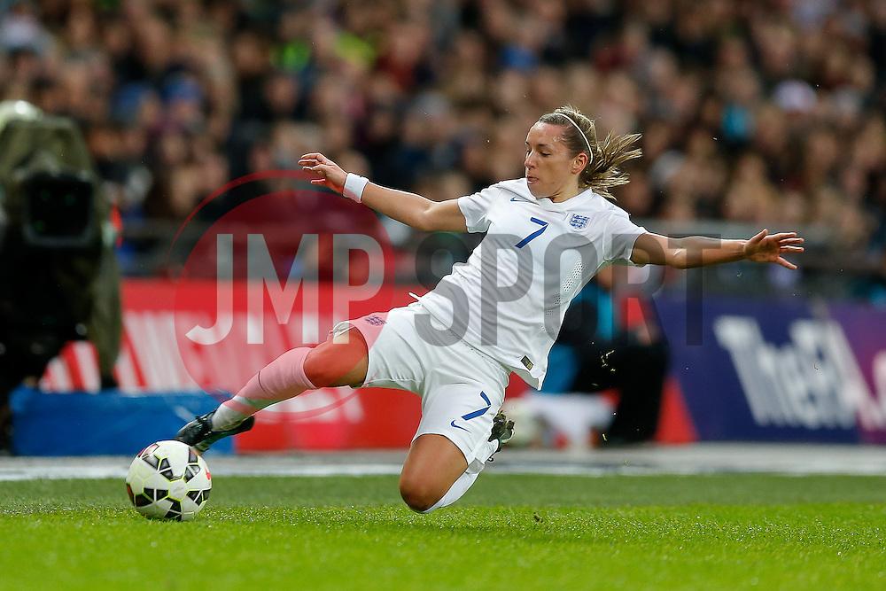 Jordan Nobbs of England in action - Photo mandatory by-line: Rogan Thomson/JMP - 07966 386802 - 23/11/2014 - SPORT - WOMEN'S FOOTBALL - Wembley Stadium - England v Germany - Breast Cancer Care International Friendly Match.