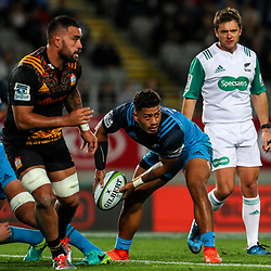 Augustine Pulu of the Blues during the Super Rugby Match between the Blues and the Chiefs at Eden Park in Auckland, New Zealand on Friday, 26 May 2017. Photo: Simon Watts / www.lintottphoto.co.nz