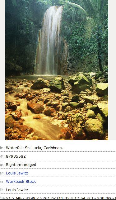 St. Lucia, DIAMOND FALLS