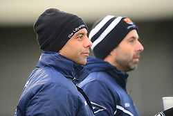 NEIL MIDGLEY ASSISTANT MANAGER AND ROBBIE NIGHTINGALE MANAGER CAMBRIDGE CITY, Corby Town v Cambridge City, Evostik Southern Division One Central Steel Park Saturday 29th December 2018