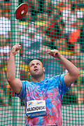 Poland, Warsaw - 2017 August 15: Piotr Malachowski (Slask Wroclaw) of Poland competes in men&rsquo;s discus throw during Memorial of Kamila Skolimowska at Stadion PGE Narodowy on August 15, 2017 in Warsaw, Poland.<br /> <br /> Mandatory credit:<br /> Photo by &copy; Adam Nurkiewicz<br /> <br /> Adam Nurkiewicz declares that he has no rights to the image of people at the photographs of his authorship.<br /> <br /> Picture also available in RAW (NEF) or TIFF format on special request.<br /> <br /> Any editorial, commercial or promotional use requires written permission from the author of image.