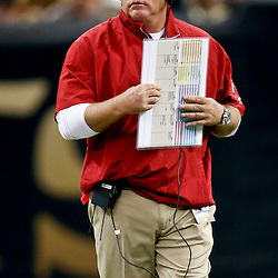 Sep 22, 2013; New Orleans, LA, USA; Arizona Cardinals head coach Bruce Arians against the New Orleans Saints during a game at Mercedes-Benz Superdome. The Saints defeated the Cardinals 31-7. Mandatory Credit: Derick E. Hingle-USA TODAY Sports