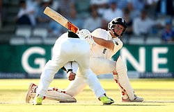 Gary Ballance of England plays an attacking shot - Mandatory by-line: Robbie Stephenson/JMP - 08/07/2017 - CRICKET - Lords - London, United Kingdom - England v South Africa - Investec Test Series