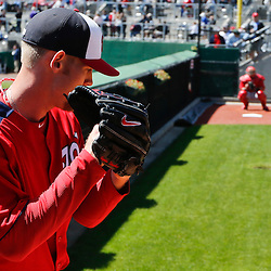 Mar 6, 2013; Clearwater, FL, USA; Washington Nationals starting pitcher Stephen Strasburg (37) against the Philadelphia Phillies during a spring training game at Bright House Field. Mandatory Credit: Derick E. Hingle-USA TODAY Sports
