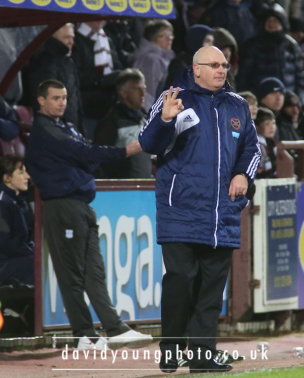 Hearts manager John McGlynn - Hearts v Dundee in the Clydesdale Bank, Scottish Premier League at Tynecastle.. - © David Young - www.davidyoungphoto.co.uk - email: davidyoungphoto@gmail.com