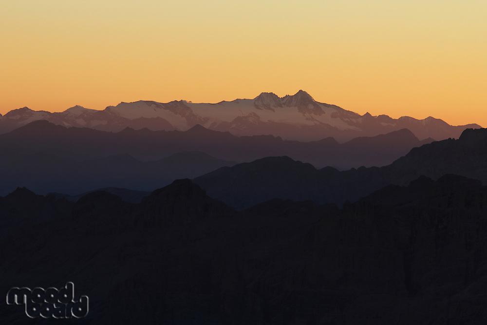 Grossglockner (Austria) seen from Marmolada Summit  Italy  Dolomites