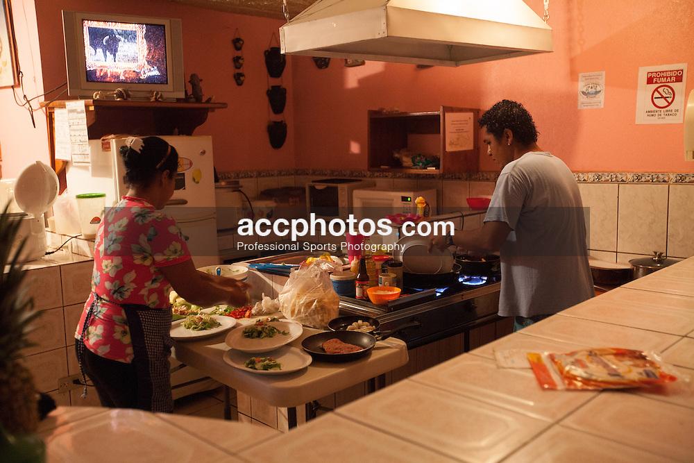 2012 August 07: Dinner at Soda La Perla at Playa Sámara, Costa Rica.
