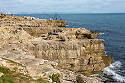 The rocky coast line, Portland Bill, Dorset, UK.