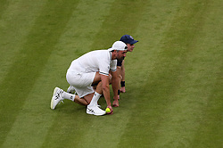 Goran Ivanisevic as boy ball on No.1 court at The All England Lawn Tennis Club, London.