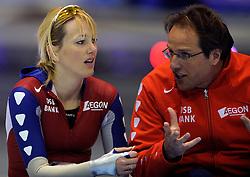 24-02-2008 SCHAATSEN: FINALE ISU WORLD CUP: HEERENVEEN<br /> Marianne Timmer en Jac Orie<br /> ©2008-WWW.FOTOHOOGENDOORN.NL