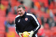 Reading goalkeeping coach Dave Beasant during the Sky Bet Championship match between Charlton Athletic and Reading at The Valley, London, England on 27 February 2016.