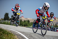 5 & 6 Boys #18 (STOLYAROV Tikhon) RUS at the 2018 UCI BMX World Championships in Baku, Azerbaijan.