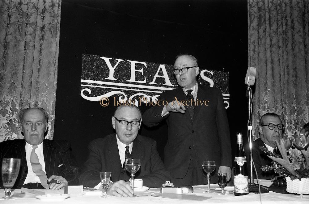 07/02/1963<br /> 02/07/1963<br /> 07 February 1963<br /> Brittain Dublin Ltd. Golden Jubilee reception and Dinner at the Hibernian Hotel, Dublin. Picture shows Mr. G.C.V. Brittain, Director Brittain Dublin Ltd. speaking at the dinner.