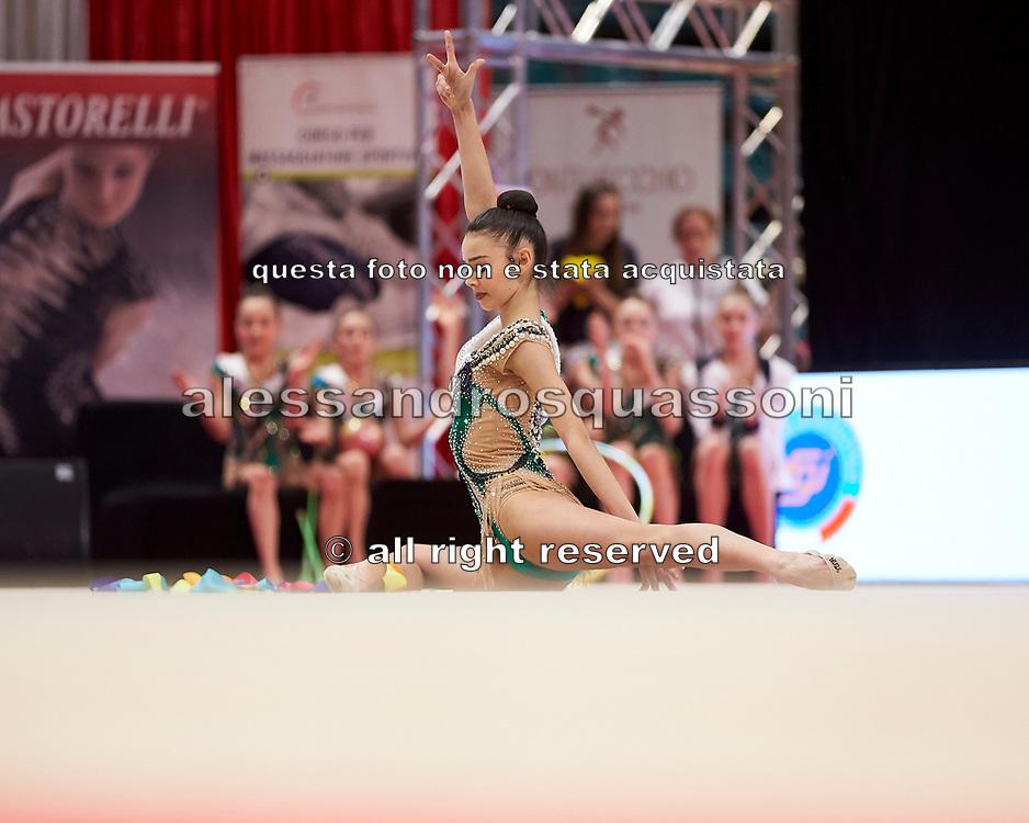 Rebecca Riccò  from the San Giorgio Desio team during the Italian Rhythmic Gymnastics Championship in Bologna, 9 February 2019.