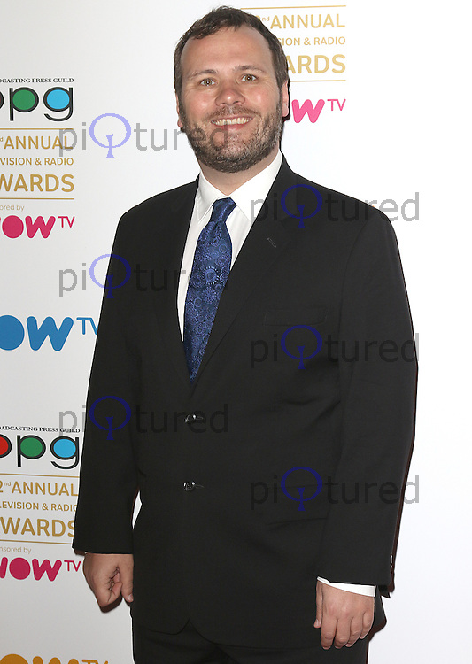 John Finnemore, Broadcasting Press Guild 42nd Annual Television & Radio Awards, Theatre Royal Drury Lane, London UK, 11 March 2016, Photo by Brett D. Cove