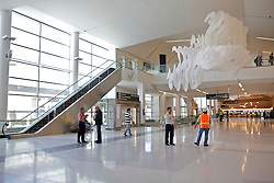 View of the new Terminal 2 at San Francisco International Airport.  The 640,000- square-foot Terminal is expected to be the first LEED Gold-certified terminal in the U.S.