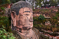 Chine, Province du Sichuan, Leshan, mont Emei, site du Grand Bouddha de Leshan classé patrimoine mondial de l'UNESCO, plus grand Bouddha au monde avec 71m // China, Sichuan province, Emei mount, Leshan, giant Buddha, Unesco world heritage