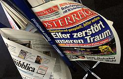 Newspaper Osterreich day after the game Austria vs Croatia in Wien press center at UEFA EURO 2008 at Ernst-Happel Stadium, on June 9,2008, in Vienna, Austria.  (Photo by Vid Ponikvar / Sportal Images)