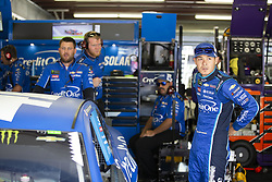 July 21, 2018 - Loudon, New Hampshire, United States of America - Kyle Larson (42) gets ready to practice for the Foxwoods Resort Casino 301 at New Hampshire Motor Speedway in Loudon, New Hampshire. (Credit Image: © Stephen A. Arce/ASP via ZUMA Wire)