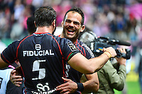 Joie Toulouse - Gregory LAMBOLEY / Yoann MAESTRI - 24.04.2015 - Stade Francais / Stade Toulousain - 23eme journee de Top 14<br />Photo : Dave Winter / Icon Sport