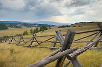 Log Fence Granite County Montana