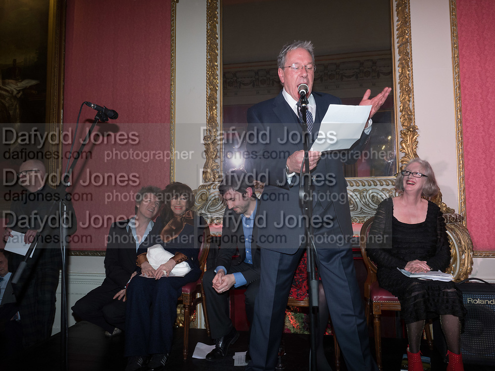 TIM BENTINCK, Literary Review Christmas drinks and  Bad Sex in fiction Awards, In and Out club. St. James's Sq. London. 30 November 2017