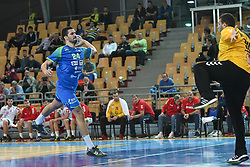Mario Sostaric of Slovenia during friendly handball match between Slovenia and Srbija, on October 27th, 2019 in Športna dvorana Lukna, Maribor, Slovenia. Photo by Milos Vujinovic / Sportida
