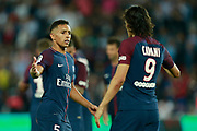 Paris Saint Germain's Brazilian defender Marquinhos gestures during the French championship L1 football match between Paris Saint-Germain (PSG) and Saint-Etienne (ASSE), on August 25, 2017 at the Parc des Princes in Paris, France - Photo Benjamin Cremel / ProSportsImages / DPPI