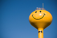 Smiley Face Water Towers