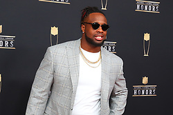 February 2, 2019 - Atlanta, GA, U.S. - ATLANTA, GA - FEBRUARY 02:  Gerald McCoy   poses for photos on the red carpet at the NFL Honors on February 2, 2019 at the Fox Theatre in Atlanta, GA. (Photo by Rich Graessle/Icon Sportswire) (Credit Image: © Rich Graessle/Icon SMI via ZUMA Press)