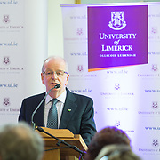 05.05. 2017.                          <br /> The Minister for Education and Skills, Richard Bruton, TD today officially launched a Post Graduate Qualification in&nbsp;School Leadership&nbsp;at the University of Limerick, aimed at those aspiring to senior leadership positions in schools. The establishment of this programme forms part of the Government&rsquo;s Action Plan for Education (2016-2019) and it aims to develop leadership capacity in Irish Primary and Post Primary Schools. <br /> <br /> Pictured at the launch was Dr. Des Fitzgerald, President UL. Picture: Alan Place.