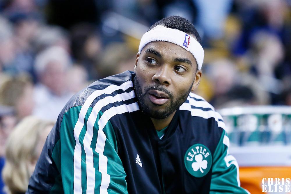 30 November 2012: Boston Celtics power forward Chris Wilcox (44) is seen on the bench during the Boston Celtics 96-78 victory over the Portland Trail Blazers at the TD Garden, Boston, Massachusetts, USA.