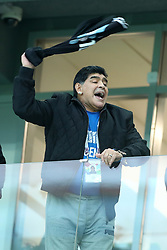 June 21, 2018 - Nizhny Novgorod, Russia - Group D Argentina v Croazia - FIFA World Cup Russia 2018.Former Argentina player and captain Diego Armando Maradona in the stands at Nizhny Novgorod Stadium, Russia on June 21, 2018. (Credit Image: © Matteo Ciambelli/NurPhoto via ZUMA Press)