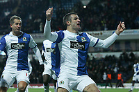 Football - Premier League - Blackburn vs. West Ham<br /> Ryan Nelsen of Blackburn Rovers celebrates his opening goal at Ewood Park
