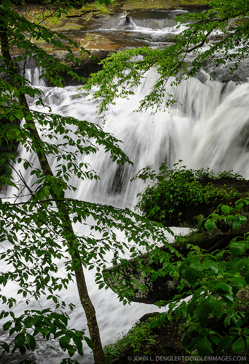 Unnamed waterfall on Dunloup Creek near the abandoned mining town of Thurmond, in the New River Gorge National River in West Virginia.