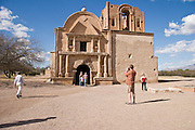 Tourists at Tumacacori National Historical Park, Arizona
