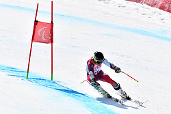 CUCHE Robin LW9-2 SUI competing in ParaSkiAlpin, Para Alpine Skiing, Super G at PyeongChang2018 Winter Paralympic Games, South Korea.