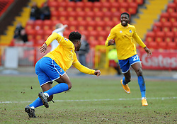 Bristol Rovers' Ellis Harrison - Photo mandatory by-line: Neil Brookman/JMP - Mobile: 07966 386802 - 28/02/2015 - SPORT - Football - Gateshead - Gateshead International Stadium - Gateshead v Bristol Rovers - Vanarama Football Conference