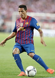 25.05.2012, Vicente Calderon Stadion, Madrid, ESP, Kings Cup Finale, FC Barcelona vs Athletic Bilbao, im Bild Barcelona's Adriano Correia // during the Spanish Kings Cup final match between Fc Barcelona and Athletic Bilbao at the Vicente Calderon Stadium, Madrid, Spain on 2012/05/25. EXPA Pictures © 2012, PhotoCredit: EXPA/ Alterphotos/ Alvaro Hernandez..***** ATTENTION - OUT OF ESP and SUI *****