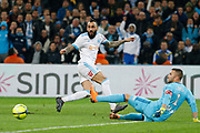 Konstantinos Mitroglou of Olympique de Marseille during the French Championship Ligue 1 football match between Olympique de Marseille and Olympique Lyonnais on march 18, 2018 at Orange Velodrome stadium in Marseille, France - Photo Philippe Laurenson / ProSportsImages / DPPI