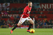 Wayne Rooney Forward of Manchester United during the EFL Cup Quater-Final between Manchester United and West Ham United at Old Trafford, Manchester, England on 30 November 2016. Photo by Phil Duncan.