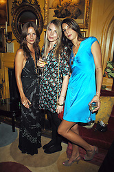 Left to right, sisters  JESSICA SIMON, CAMILLA SIMON and ZARA SIMON daughters of Peter Simonat a dinner hosted by fashion label Issa at Annabel's, Berekely Square, London on 24th April 2007.<br /><br />NON EXCLUSIVE - WORLD RIGHTS