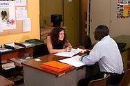 Roma 10 Giugno 2005 <br /> Sportello di orientamento alla creazione di impresa per gli immigrati della Caritas diocesana di Roma,in via delle Zoccolette
