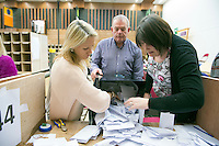 27/02/2016 Scenes from the Galway West Count for the General Election 2016 in the Bailey Allen Hall NUI, Galway <br /> Photo:Andrew Downes, xposure.