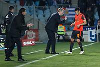 Real Sociedad´s coach David William Moyes talks to Yuri during 2014-15 La Liga match at Alfonso Perez Coliseum stadium in Madrid, Spain. March 16, 2015. (ALTERPHOTOS/Victor Blanco)