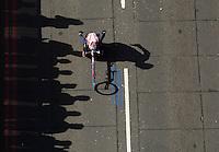 Wheelchair Racers at Tower Bridge during  The Virgin Money London Marathon 2014. Sunday 13 April 2014<br /> <br /> Photo: Bob Martin/Virgin Money London Marathon<br /> <br /> media@london-marathon.co.uk