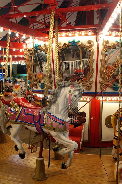 Carnival carousel at night